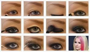 avril lavigne eye makeup hairstyles beauty health in 2019 eye makeup avril lavigne rock makeup