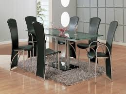 Metal Glass Dining Table Modway Furniture Modern Gridiron Stainless Steel Dining Table In