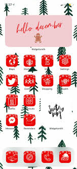 Winter Aesthetic iOS 14 Icons Holiday ...