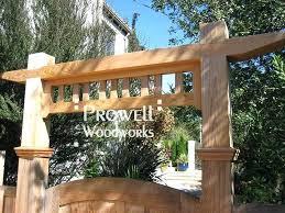 custom wood gate arbor 1 3 by garden trellis boulevard gate arbors garden