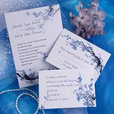 cheap blue blossom floral wedding invitations ewi165 as low as $0 94 White And Blue Wedding Invitations cheap blue blossom floral wedding invitations ewi165 royal blue and white wedding invitations