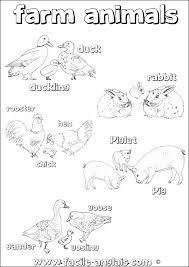 Coloriages Animaux De La Ferme Les Animaux Page 2