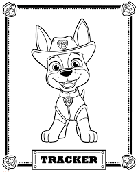 Paw Patrol Coloring Pages To Print Paw Patrol Tracker Coloring Pages