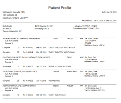 Patient Profile Report
