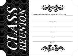 Black And White Invitation Paper Classic Black White Class Reunion Fill In The Blank Invitation