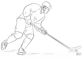 Hockey Player Coloring Page Free Printable Coloring Pages