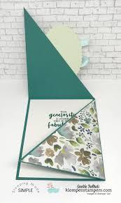 Folded Birthday Card Triangle Fun Fold Card Fun Fold Cards Fancy Fold Cards