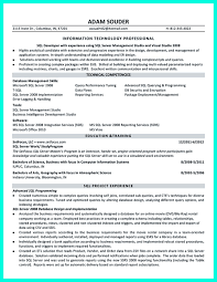 Web Developer Resume Samples Job Sample Pertaining To Oracle Pl