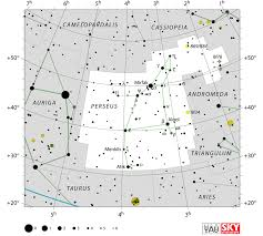 Tonights Star Chart Perseus Constellation Facts Myth Location Map Meteor
