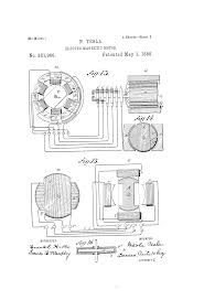 alternating current tesla. patent us381968 electro magnetic motor google patents drawing. 3 phase contactor with overload. alternating current tesla