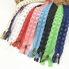 35cm Random Color <b>10pcs</b>/lot Zippers <b>Lace</b> Nylon Finish Zipper for ...