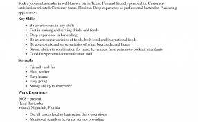 Bartender Resume Template Australia Bartender Resume Sample No