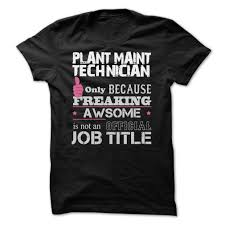 cook supervisor job title funny shirt awesome plant maint technician shirts