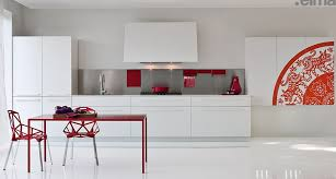 Kitchen designs red kitchen furniture modern kitchen Stainless Modern Kitchens From Elmar Cucine White With Red Pops Of Colour Wallpapers4screen Kitchen Designs White With Red Pops Of Colour Modern Kitchens