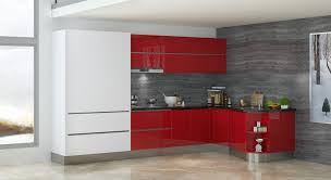 Red Lacquer Kitchen Cabinets Oppein Kitchen Cabinet In 18th Buildexpo Tanzania 2015