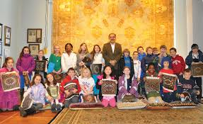 students from the local charles river school show