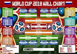 World Cup Fixture Chart World Cup Wall Chart 2018 Russia Planner Fixtures Football