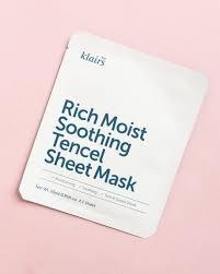 <b>смягчающая тканевая маска</b> klairs rich moist soothing mask