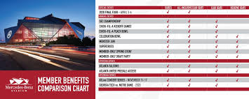 Atl Utd Seating Chart Clubs Suites Mercedes Benz Stadium