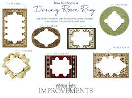 round rug size guide dining room rug size guide dining room rug size with of the