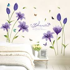 wall art decor stickers flower letter