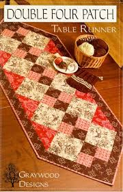 2029 best Quilting images on Pinterest | Patchwork embutido ... & table runner quilt pattern | Double Four Patch Runner | graywood designs Adamdwight.com