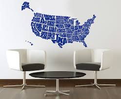 united states map wall decal world map sticker for wall usa map