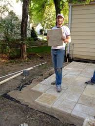 cheap patio paver ideas. Bring On The Yardwork- Part 1, Installing A Paver Patio Cheap Ideas