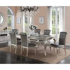 white and black dining room table. Adele 7 Piece Dining Set White And Black Room Table S