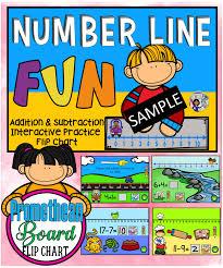 Interactive Number Flip Chart Number Line Fun Promethean Board Flip Chart Promethean