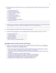 Health And Fitness Survey Questions Appendix A Survey Questionnaire Transit Operator Health And