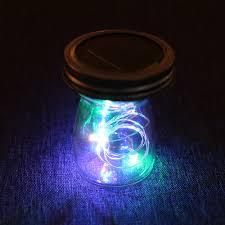 Fairy In A Jar Night Light Us 3 29 1pc Home Decal 10 Led Bulb Fairy Solar Mason Jar Lid Lights Copper Wine Bottle Lamp Garden Led String Light Starry Night Light In Lighting