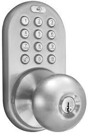 milocks dkk 02sn indoor electronic touchpad keyless entry door lock satin nickel amazon