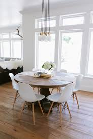 salt lake city restoration hardware round table with farmhouse pendant lights dining room and runner wood