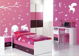 Pink Childrens Bedroom Cute Girls Bedroom Ideas Zynya Wall Mural Design In Pink Paint For