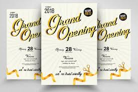 Grand Opening Flyer Gorgeous 48 Grand Opening Flyer Bundle Vol48 Flyer Templates Creative Market