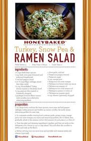 use your leftover turkey from honeybaked ham douglasville to make this delicious turkey snow pea and ramen salad