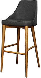 Erin Bar Stool, Nightshade With Walnut Legs midcentury-bar-stools-and-