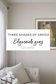 This soft gray with beige undertones is the perfect complement to most white marbles, such as. Three Shades Of Gray Revere Pewter Edgecomb Gray Mommy Diary