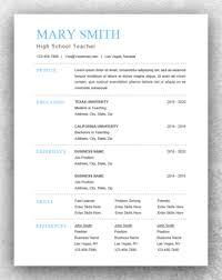 Resume Templates On Word Resume Pdf Download