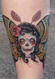 Girl Face Moth Tattoo On Leg Tattoo Moth Tattoo Death Head Moth