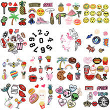 New Arrival Embroidered Iron on Patches Sets Animal Numbers Letters Multicolor Fashion Parches For Clothing Jeans 220x220