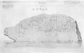 drawing of alleged roman letters fig e 1847 and bination of the drawings of 1789 and 1837 by henry r craft 1851