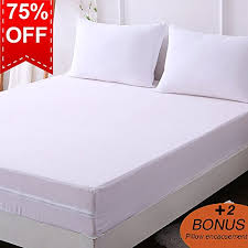 zippered mattress protector. DOWNCOOL Zippered Mattress Encasement - Include 2 Bonus Pillowcase  Waterproof Protector Box Spring Cover From Bed Bug, Dust Zippered Mattress Protector