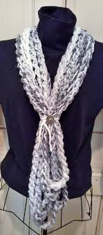 What can you do with 1 skein LB Wool-Ease Thick & Quick (in Marble) and a Q  crochet hook? Double it, chain 26 feet, connect the ends, and have endless  ways ...