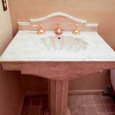Marble pedestal sink White Carrara Marble Pedestal Sink 1fingulfinfo Marble Pedestal Sink Ebth