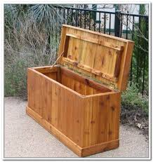 outdoor cedar storage chest plans designs