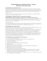 Medical Billing Coding Resume Sample Entry Level Examples For And