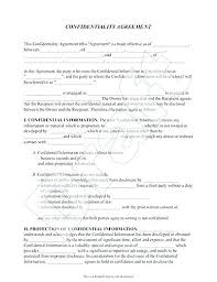 Confidentiality Agreement Free Template Amazing Confidentiality Template Free Free Printable Non Disclosure