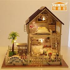 making doll furniture in wood. Wholesale Assembling Diy Doll House Wooden Houses Miniature Handmade Dollhouse Furniture Kit Room Led Lights Kids Birthday Gift Dolls Kits To Making In Wood F